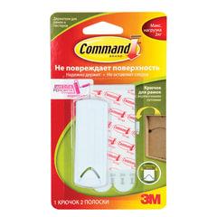 Крючок самоклеящийся COMMAND для рамок с веревочными петлями, легкоудаляемый, белый, до 2 кг