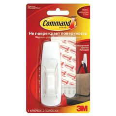 Крючок самоклеящийся COMMAND, легкоудаляемый, большой, белый, до 2,25 кг