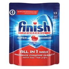 """Средство для мытья посуды в посудомоечных машинах FINISH (Финиш) """"All in 1"""", 13 шт., таблетки"""