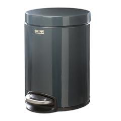 Ведро-контейнер для мусора (урна) с педалью DURABLE (Германия), 5 л, темно-серое