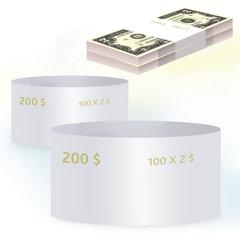 Бандероли кольцевые, комплект 500 шт., номинал 2 доллара