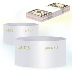 Бандероли кольцевые, комплект 500 шт., номинал 5 долларов