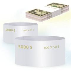 Бандероли кольцевые, комплект 500 шт., номинал 50 долларов