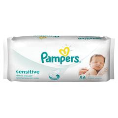 """Салфетки влажные, 56 шт., PAMPERS (Памперс) """"Sensitive"""", для нежного очищения"""