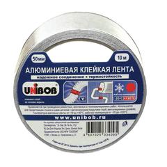 Клейкая лента алюминиевая 50 мм х 10 м, UNIBOB, морозостойкая, европодвес