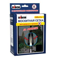 Сетка москитная 0,95 м х 2 м для дверного проема, на магнитах, UNIBOB, черная, европодвес