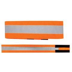 Повязка светоотражающая на руку, 430х55 мм, на липучке, оранжевая