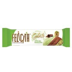"""Шоколад FELICITA (Феличита) """"Gelato"""", молочный со вкусом фисташкового мороженого, 45 г"""
