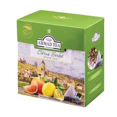 """Чай AHMAD (Ахмад) """"Citrus Sorbet"""", зеленый, вкус цитрусового сорбета, 20 пирамидок по 1,8 г"""