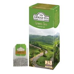 """Чай AHMAD (Ахмад) """"Green Tea"""", зеленый, 25 пакетиков с ярлычками по 2 г"""