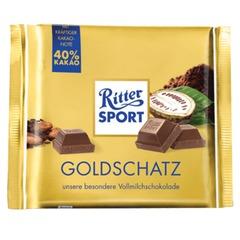 """Шоколад RITTER SPORT """"Goldschatz"""", молочный, со вкусом какао, 250 г, Германия"""