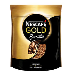 """Кофе молотый в растворимом NESCAFE (Нескафе) """"Gold Barista"""", сублимированный, 150 г, мягкая упаковка"""