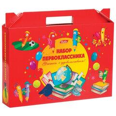 """Набор для первоклассника в подарочной упаковке HATBER """"Красный"""""""