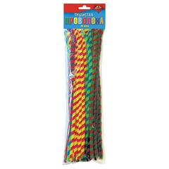 """Проволока синельная для творчества """"Пушистая"""", спираль двухцветная, 50 штук, 30 см, ассорти"""
