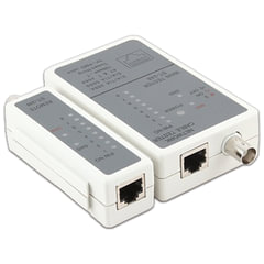 Тестер CABLEXPERT NCT-1, для сетевого и коаксильного кабеля, разъемы RJ-45, RG-58
