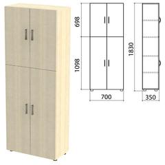 "Шкаф закрытый ""Канц"", 700х350х1830 мм, цвет дуб молочный (КОМПЛЕКТ)"