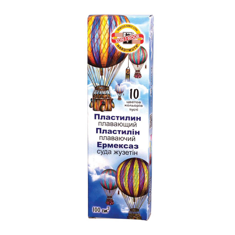 "Пластилин плавающий KOH-I-NOOR ""Archimedes"", 10 цветов, 90 г, картонная упаковка, 013171700000RU"