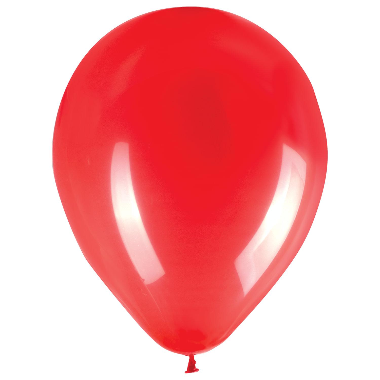 """Шары воздушные ZIPPY (ЗИППИ) 10"""" (25 см), комплект 50 шт., красные, в пакете, 104175"""