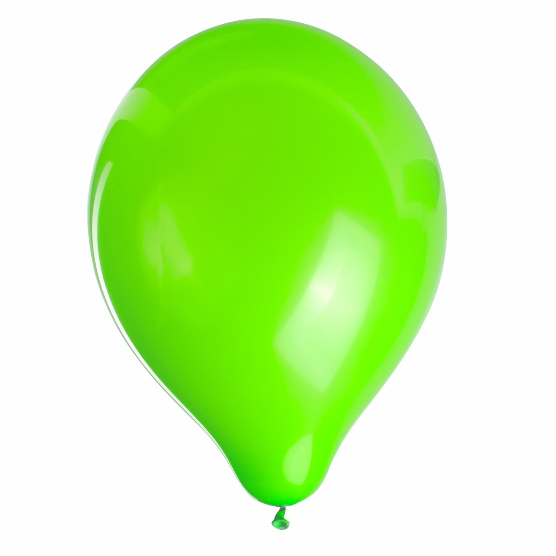 """Шары воздушные ZIPPY (ЗИППИ) 10"""" (25 см), комплект 50 шт., неоновые зеленые, в пакете"""