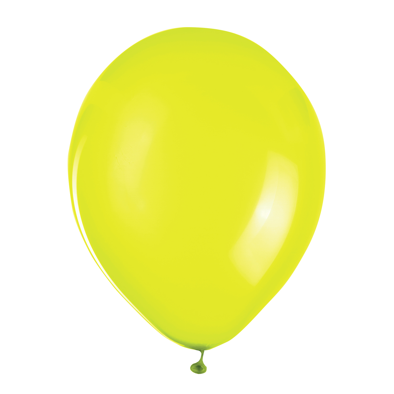 """Шары воздушные ZIPPY (ЗИППИ) 10"""" (25 см), комплект 50 шт., неоновые желтые, в пакете"""