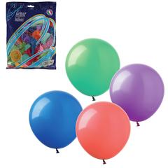 """Шары воздушные 12"""" (30 см), комплект 100 шт., 12 пастельных цветов, в пакете"""