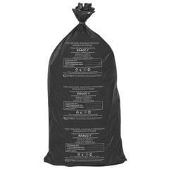 Мешки для мусора медицинские, в пачке 20 шт., класс Г (черные), 100 л, 60х100 см, 15 мкм, АКВИКОМП