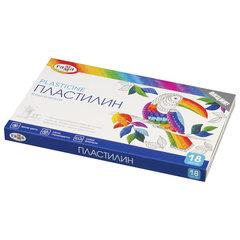 """Пластилин классический ГАММА """"Классический"""", 18 цветов, 360 г, со стеком, картонная упаковка, 281035"""