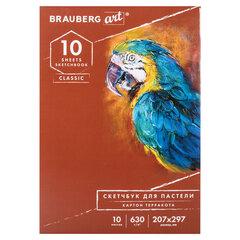 """Альбом для пастели, картон """"ТЕРРАКОТА"""" тонированный 630 г/м2, 207x297 мм, 10 л., BRAUBERG CLASSIC, 105922"""