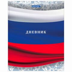"""Дневник 1-4 класс 48 л., твердый, BRAUBERG, глянцевая ламинация, с подсказом, """"Российский"""", 106017"""