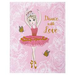 """Дневник 1-4 класс, 48 л., твердый, ЮНЛАНДИЯ, блестки, с подсказом, """"Балерина"""", 106031"""