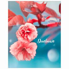 "Дневник 5-11 класс, 48 л., твердый, BRAUBERG, глянцевая ламинация, с подсказом, ""Цветы"", 106063"
