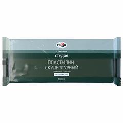 """Пластилин скульптурный ГАММА """"Студия"""", оливковый, 1 кг, твердый, 2.80.Е100.003"""