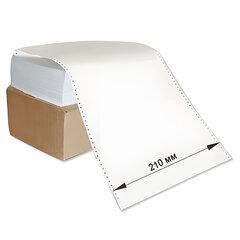 """Бумага с неотрывной перфорацией, 210х305 мм (12""""), 1600 листов, плотность 65 г/м2, белизна 98%, STARLESS"""