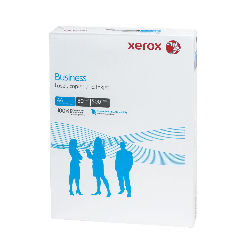 Бумага офисная А4, 80 г/м2, 500 л., марка В, XEROX BUSINESS, Финляндия, 164% (CIE)