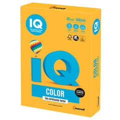 Бумага цветная IQ color, А4, 80 г/м2, 500 л., неон, оранжевая, NEOOR