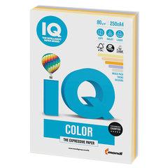 Бумага цветная IQ color, А4, 80 г/м2, 250 л., (5 цветов х 50 листов), микс тренд, RB03