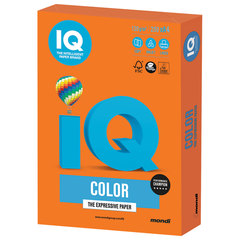 Бумага цветная IQ color, А4, 120 г/м2, 250 л., интенсив, оранжевая, OR43