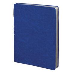 "Бизнес-тетрадь BRAUBERG ""NEBRASKA"", А5+, 175x215 мм, кожзам, клетка, 120 листов, ручка, синий"