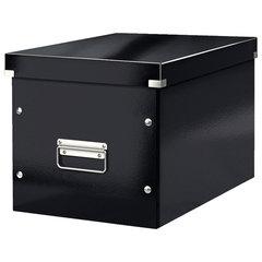 """Короб архивный LEITZ """"Click & Store"""" L, 310х320х360 мм, ламинированный картон, разборный, черный, 61080095"""