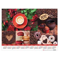 """Календарь А2 2020 год, 60х45 см, горизонтальный, """"Coffee Time"""", HATBER, Кл2_22049"""