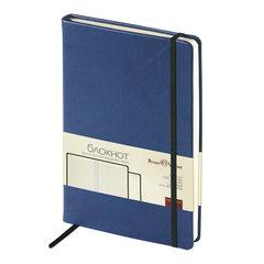 """Блокнот А5 (144х212 мм), 100 л., твердая обложка, под кожу, на резинке, BRUNO VISCONTI, """"VELVET"""", Темно-синий., 3-525/01"""