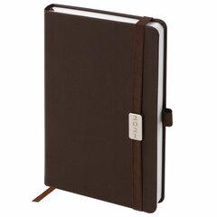 """Ежедневник датированный 2021 А5 (138х213 мм) BRAUBERG """"Control"""", кожзам, держатель для ручки, коричневый, 111473"""