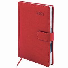 """Ежедневник датированный 2021 (148х218 мм) GALANT """"Ritter"""", кожзам, красный, 111517"""