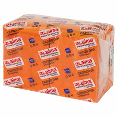 """Салфетки бумажные 400 шт., 24х24 см, LAIMA, """"Big Pack"""", оранжевые (интенсив), 100% целлюлоза, 111797"""