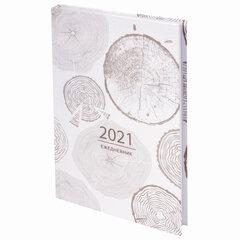 """Ежедневник датированный 2021 А5 (145х215 мм), ламинированная обложка, STAFF, """"Узоры Дерева"""", 111818"""