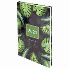 """Ежедневник датированный 2021 А5 (145х215 мм), ламинированная обложка, STAFF, """"Тропики"""", 111823"""