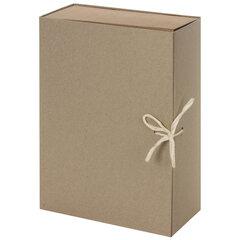 Короб архивный STAFF, А4 (240х330 мм), 100 мм, 2 завязки, переплетный картон, до 900 листов, 111956
