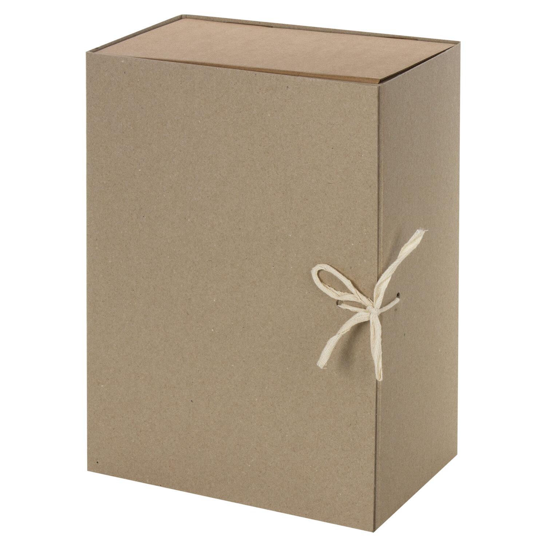 Короб архивный STAFF, А4 (240х330 мм), 150 мм, 2 завязки, переплетный картон, до 1400 листов, 111957