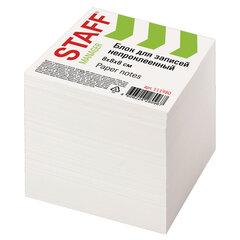 Блок для записей STAFF непроклеенный, куб 8х8х8 см, белый, белизна 90-92%, 111980