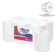 Полотенца бумажные рулонные 200 м FOCUS (H1) Extra Quick, втулка 38 мм, 1-слойные, белые, КОМПЛЕКТ 6 рулонов, 5050095